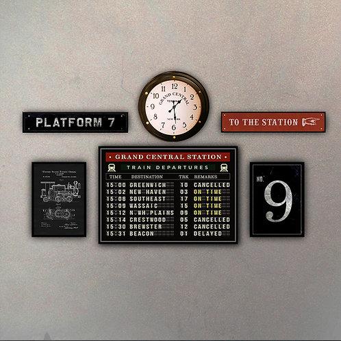 Combo Estación Ferrocarril + Reloj Grand Central Station