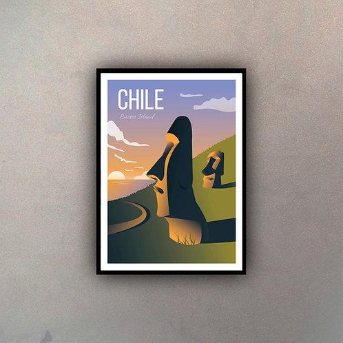 Afiche  Vintage Chile