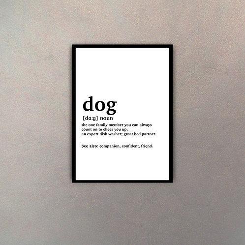 """""""Dog"""" Definición Diccionario"""