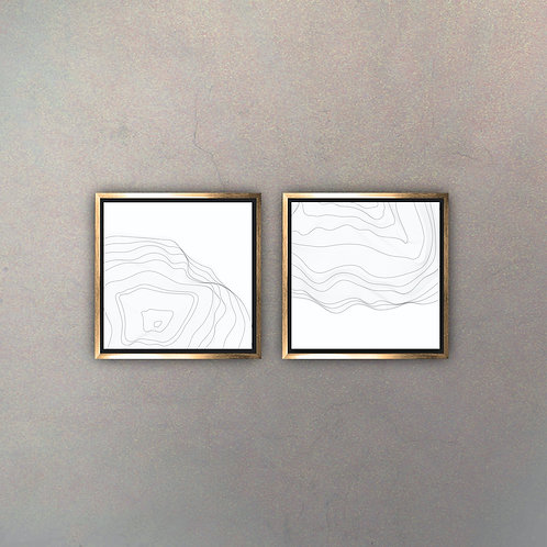 Set Arte Moderno Gold I (Canvas)
