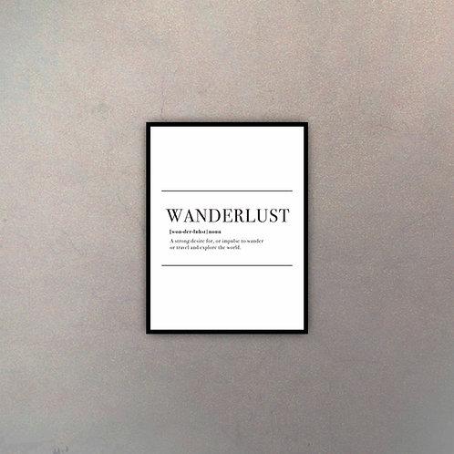 "Tipografía ""Wanderlust"""