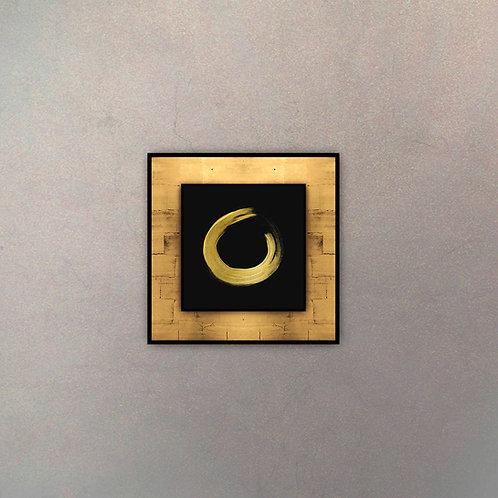 Placa Pincelada Gold