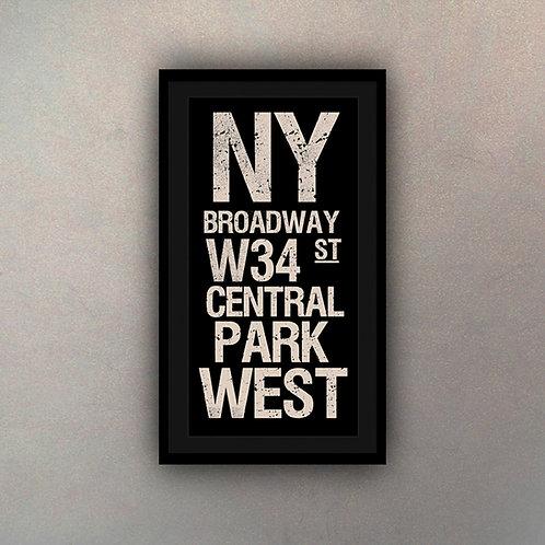 Cartel Tipografía New York
