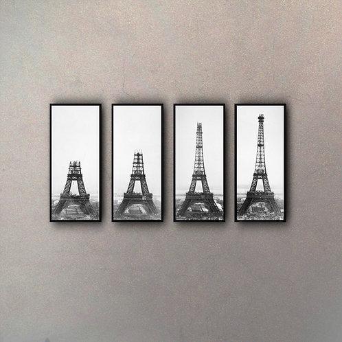 Secuencia Construcción Torre Eiffel (4 Cuadros)