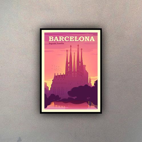 Afiche Vintage Barcelona II