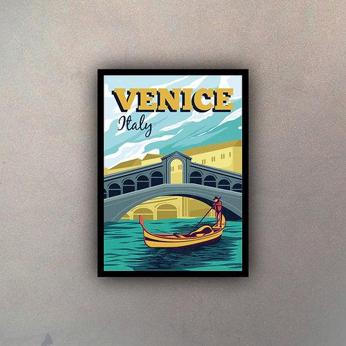 Afiche Vintage Venice