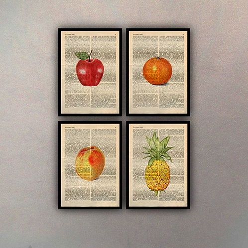 Combo Frutas II (4 Cuadros)