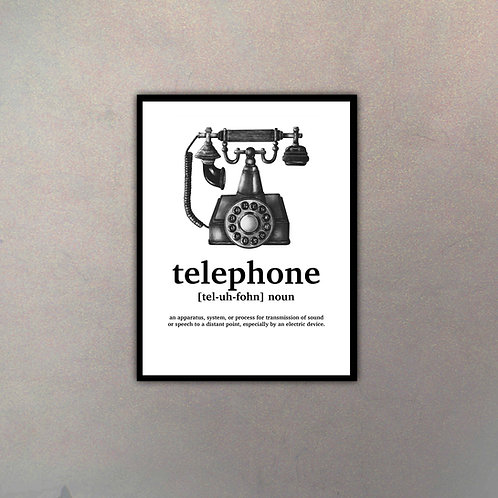 """Objeto Vintage Definición """"Telephone"""""""