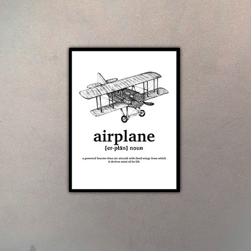"""Objeto Vintage Definición """"Airplane"""""""