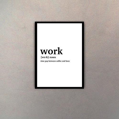 """""""Work"""" Definición Diccionario"""