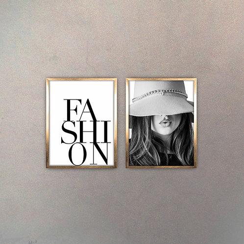 Set Fashion (2 Cuadros) Gold
