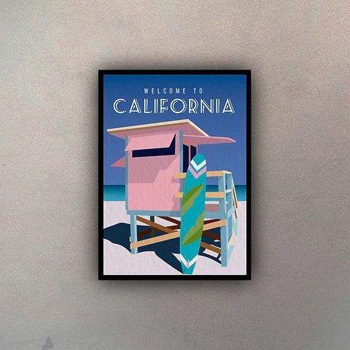 Afiche Vintage California