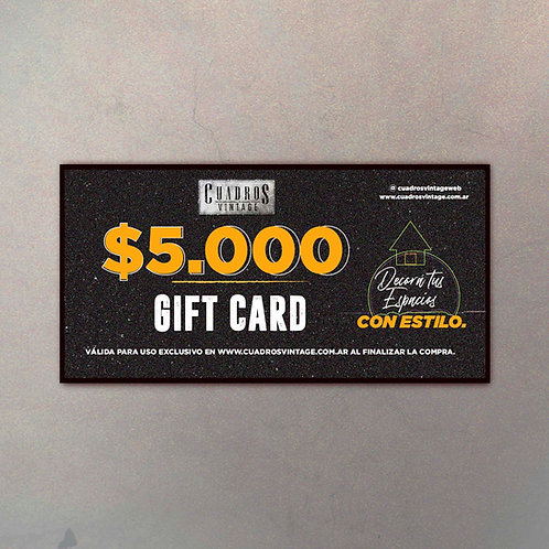 $5.000 Gift Card