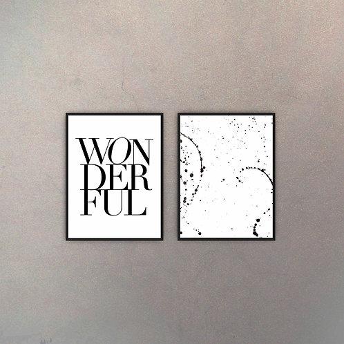 Set Wonderful Art (2 Cuadros)