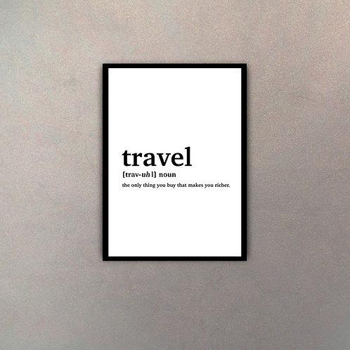 """""""Travel"""" Definición Diccionario"""