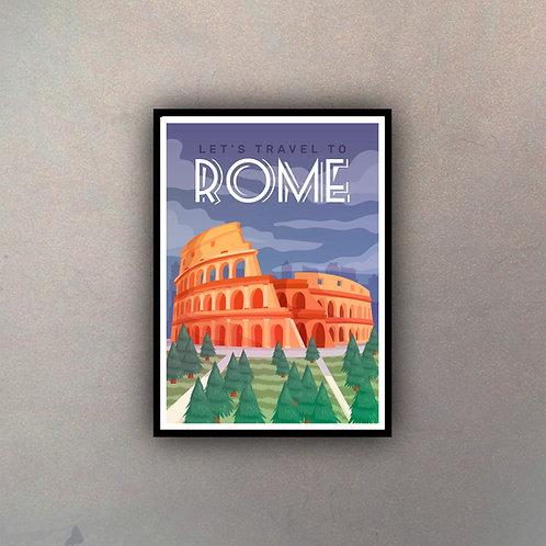 Afiche Vintage Rome II