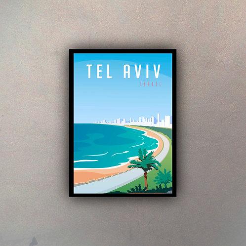 Afiche Vintage Tel Aviv