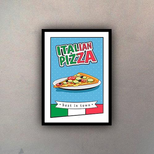 Afiche Vintage Italian Pizza