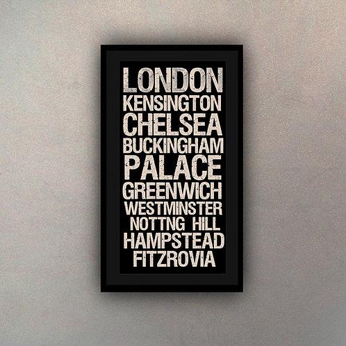 Cartel Tipografía Londres