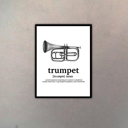 """Objeto Vintage Definición """"Trumpet"""""""