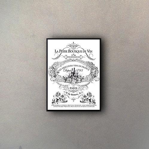 Cartel Vintage Vinos