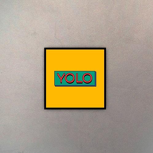 """Tipografía """"YOLO"""""""