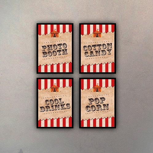 Set Circo (4 Cuadros)