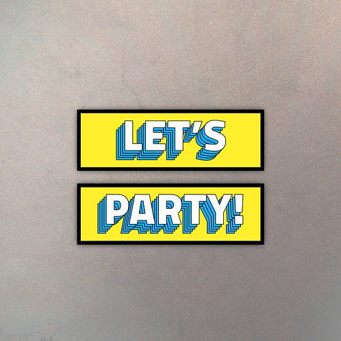 "Set ""Let's Party"" (2 Cuadros)"