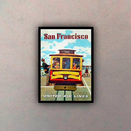 Afiche Vintage San Francisco II