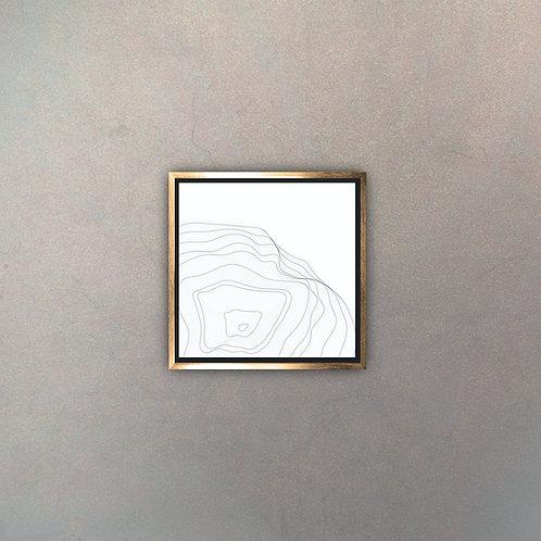 Arte Líneas Abstractas Gold I (Canvas)