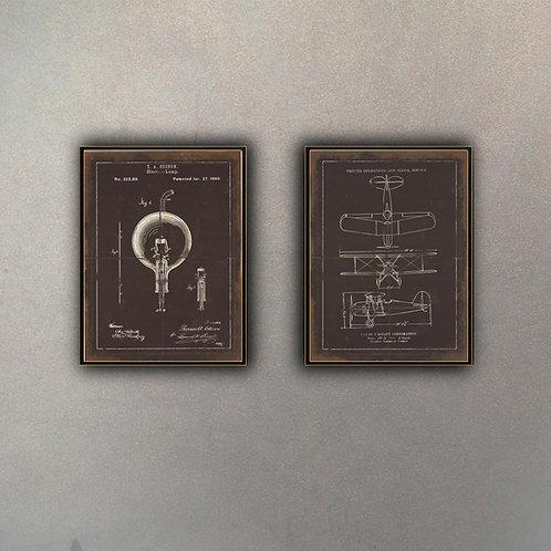 Set Inventos Premium (2 Cuadros)