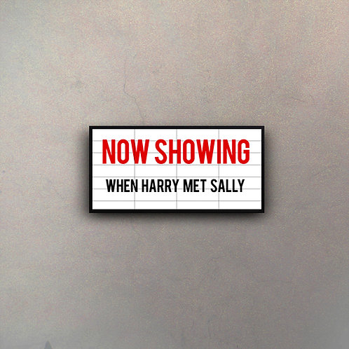 "Cartel Marquesina Cine ""When Harry Met Sally"""