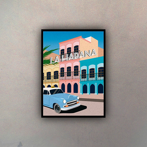 Afiche Vintage La Habana