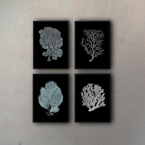 Set Corales (4 Cuadros)