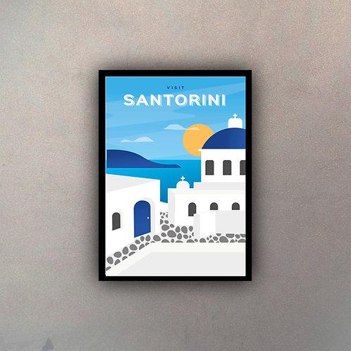 Afiche Vintage Santorini