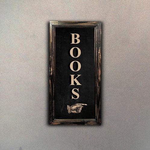 """Cartel """"Books"""""""
