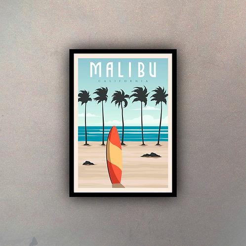 Afiche Vintage Malibu
