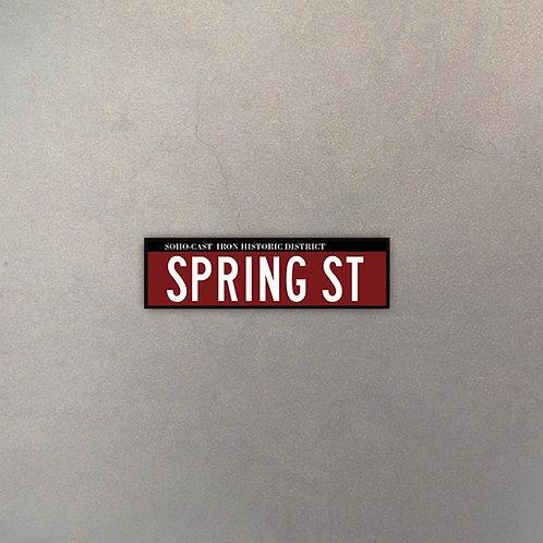Cartel Spring Street