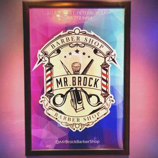 Mr Brock Barber Shop Logo
