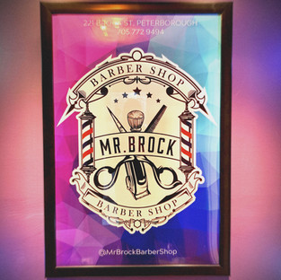 Mr Brock Barber Shop Logo