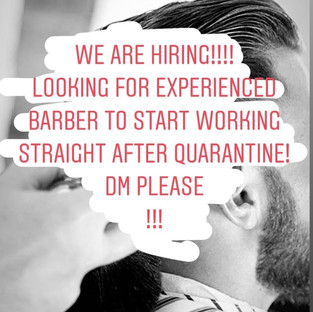 Barber Shop Hiring
