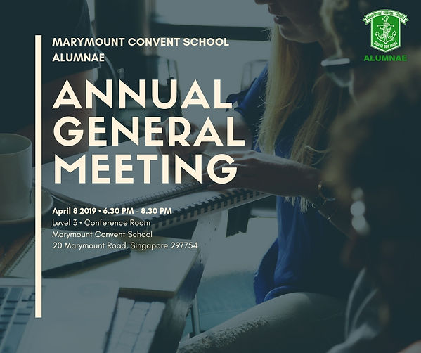 Official Notice for Marymount Convent School Alumnae AGM 2019