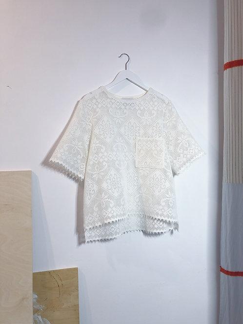 T-shirt z koronki S/M