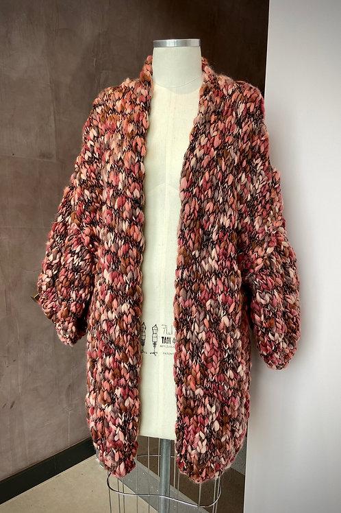 Kimono Handmade Mescla -rosê / caramelo