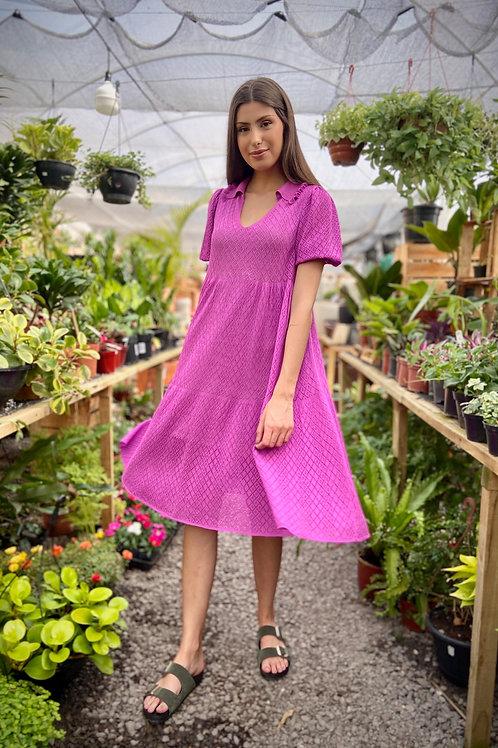 Vestido Amplo Gola Pólo - Azaleia