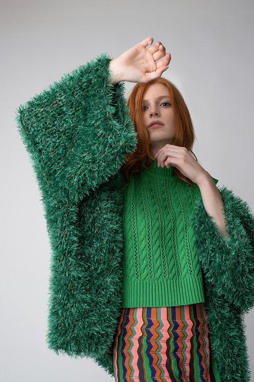 Kimono  pelúcia - verde