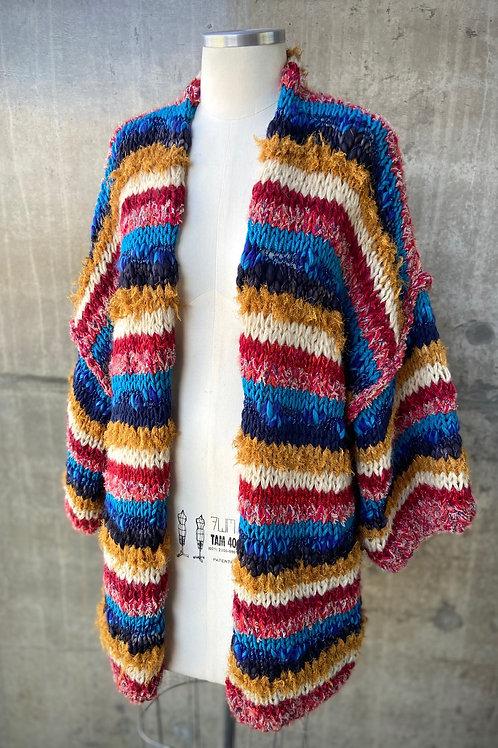 Kimono handmade listrado - RED / NAVY