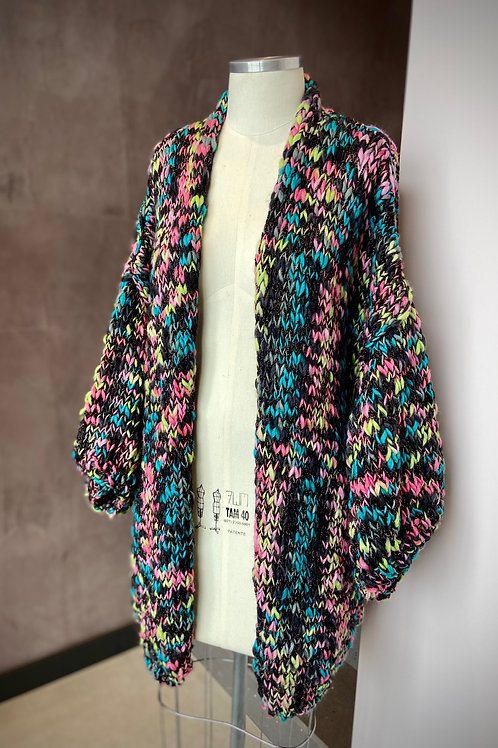Kimono Handmade -preto / colorido