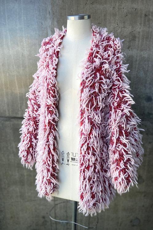 Kimono handmade pelúcia - RED / PINK