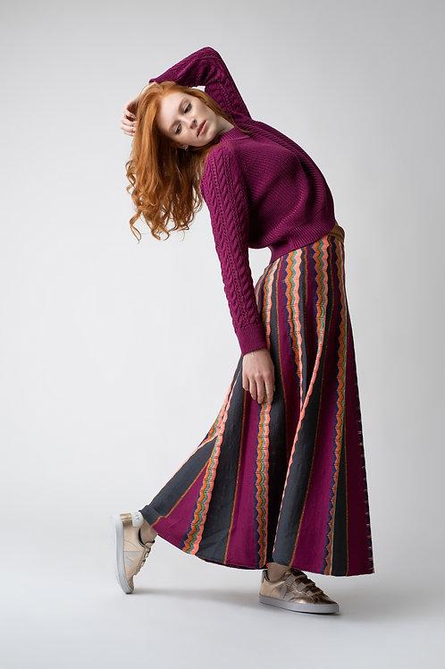 Saia zigzag -  violeta